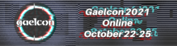 Logo for Gaelcon 2021. Running the 22nd to 25th of October 2021.